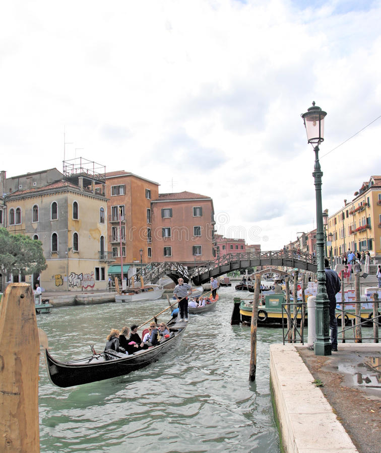 Kanalen, Venetië, Italië stock afbeelding