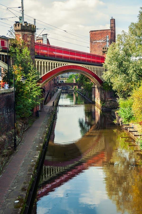 Kanaler av Manchester, UK royaltyfri fotografi
