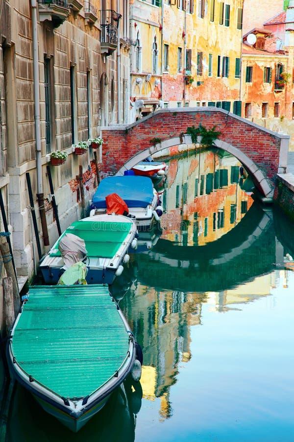 Kanaler av Venedig royaltyfria bilder