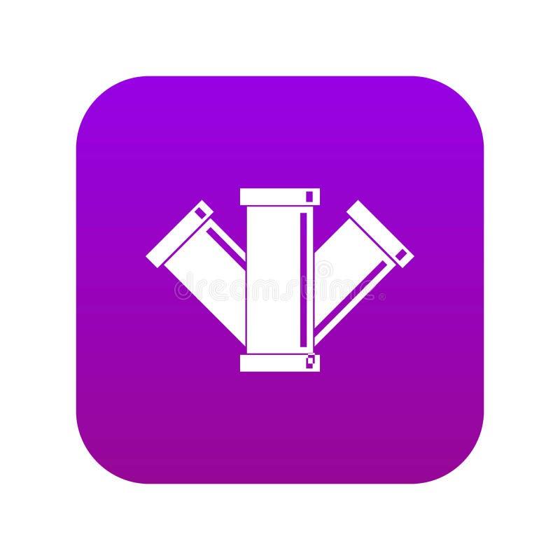 Kanalizacji ikony cyfrowe purpury ilustracji