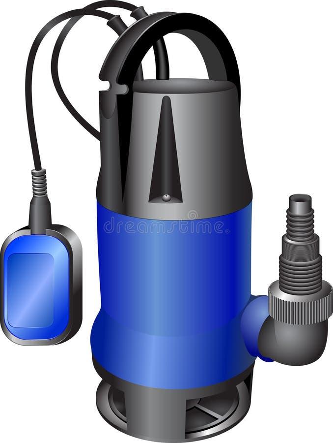 Kanalizacyjna błękit pompa ilustracji
