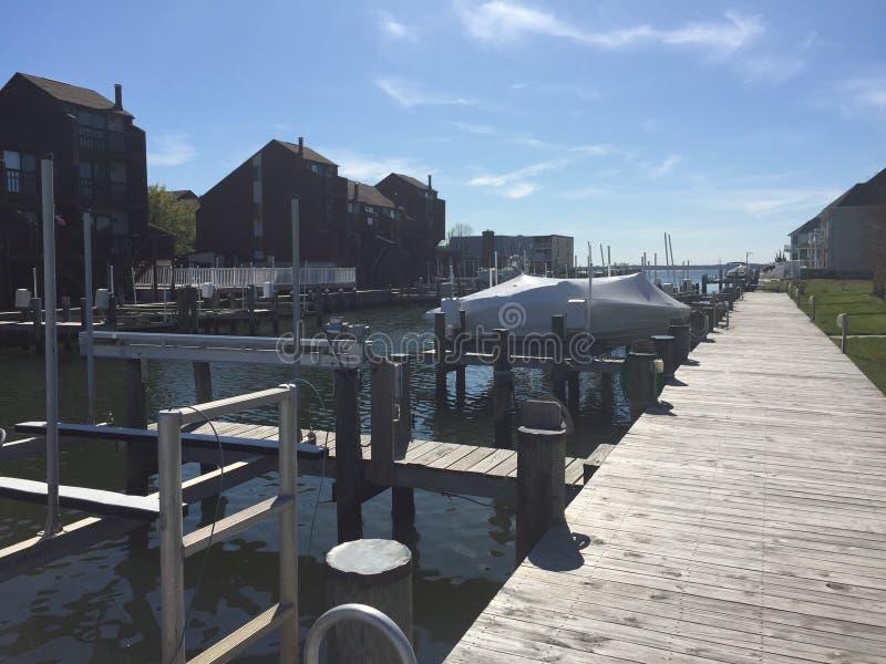 Kanalmeningen in Oceaanstad royalty-vrije stock foto