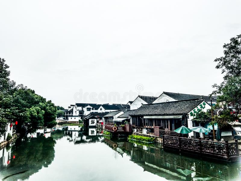 Kanalstäder i söder av Yangtzen royaltyfri foto