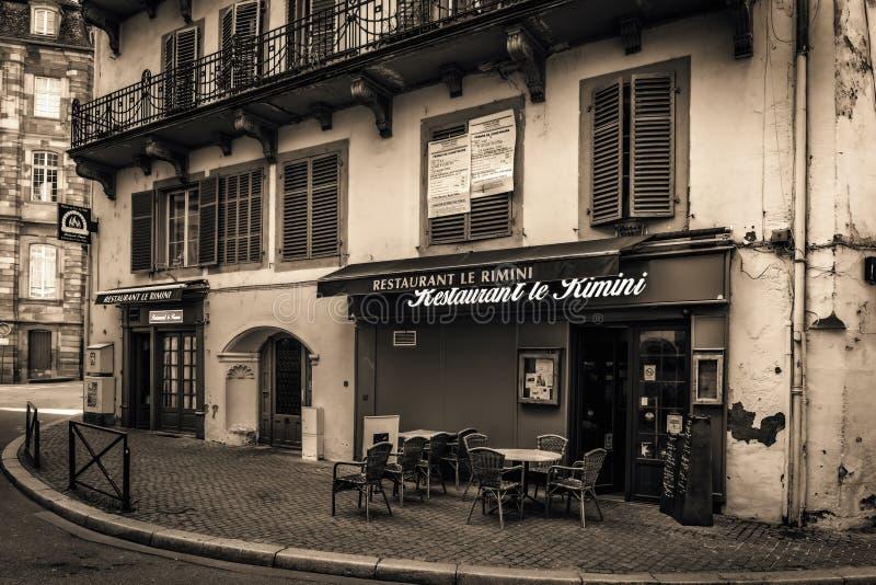 kanalstadsstrasbourg sikt arkivfoton