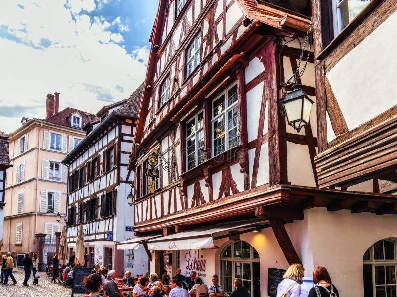 kanalstadsstrasbourg sikt arkivfoto