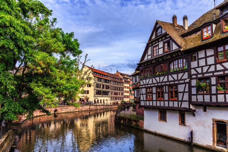 kanalstadsstrasbourg sikt arkivbild