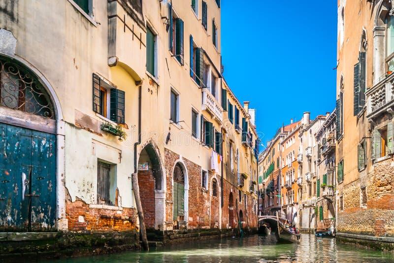 Kanalstraßen in Venedig, Italien lizenzfreies stockfoto