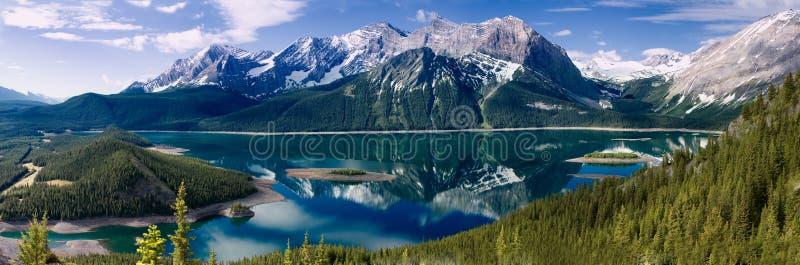 kananaskis jeziora wierzch zdjęcie stock