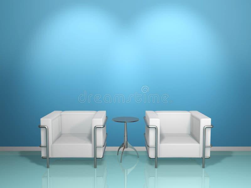 kanapa błękitny stół royalty ilustracja