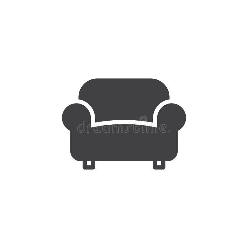 Kanapa, leżanki ikony wektor, wypełniający mieszkanie znak ilustracja wektor