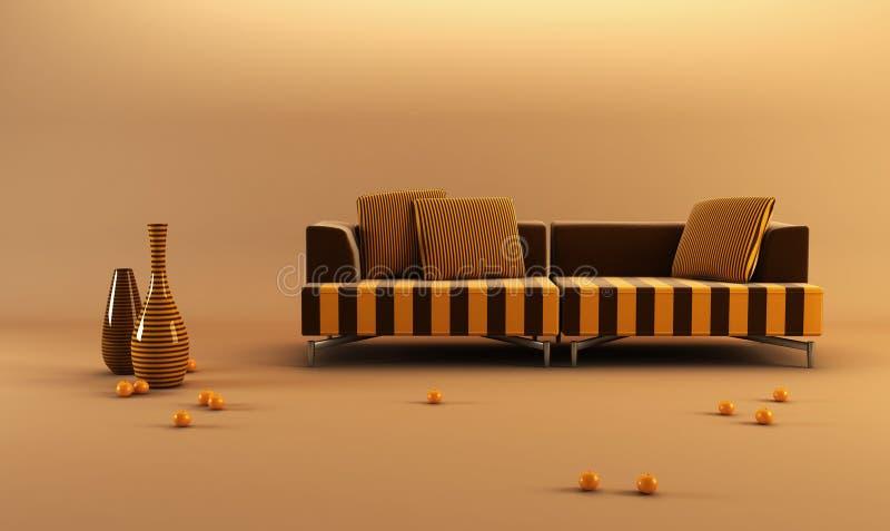 kanapa modernstriped ilustracji