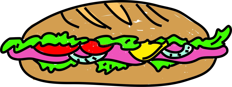 kanapkę? royalty ilustracja