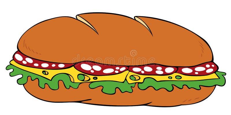 kanapka ilustracja wektor