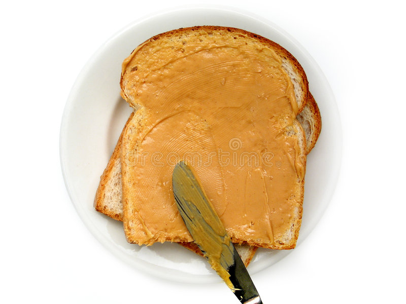 kanapka arachidowa masła fotografia stock