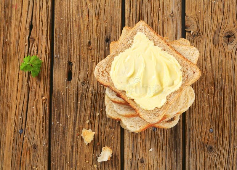 Kanapka chleb z masłem zdjęcie stock