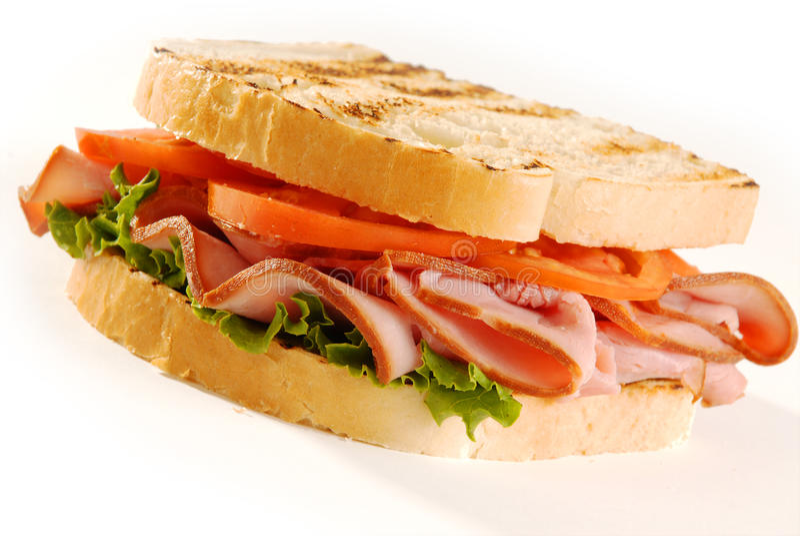 kanapka indyk zdjęcie stock