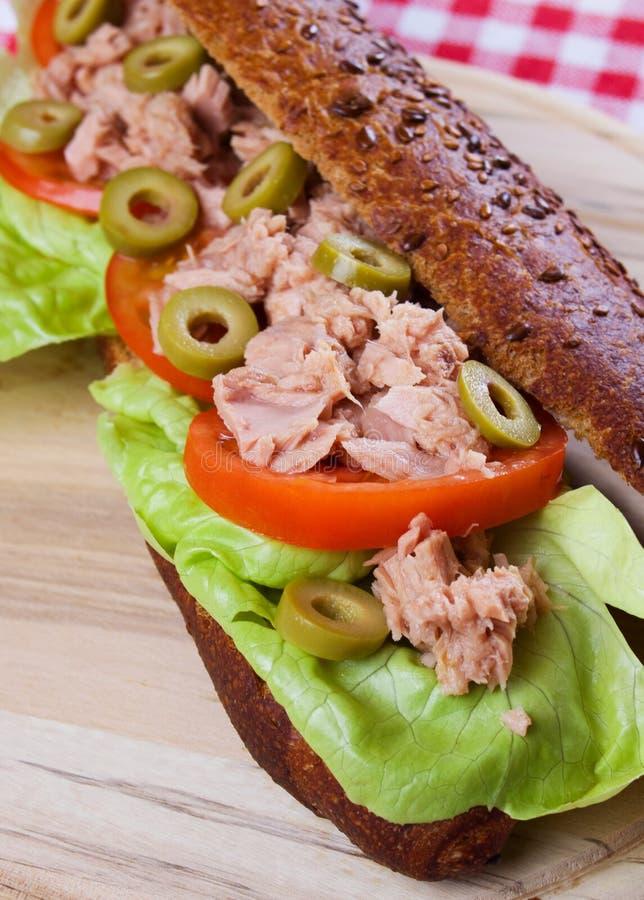 kanapka tuńczyk obraz stock