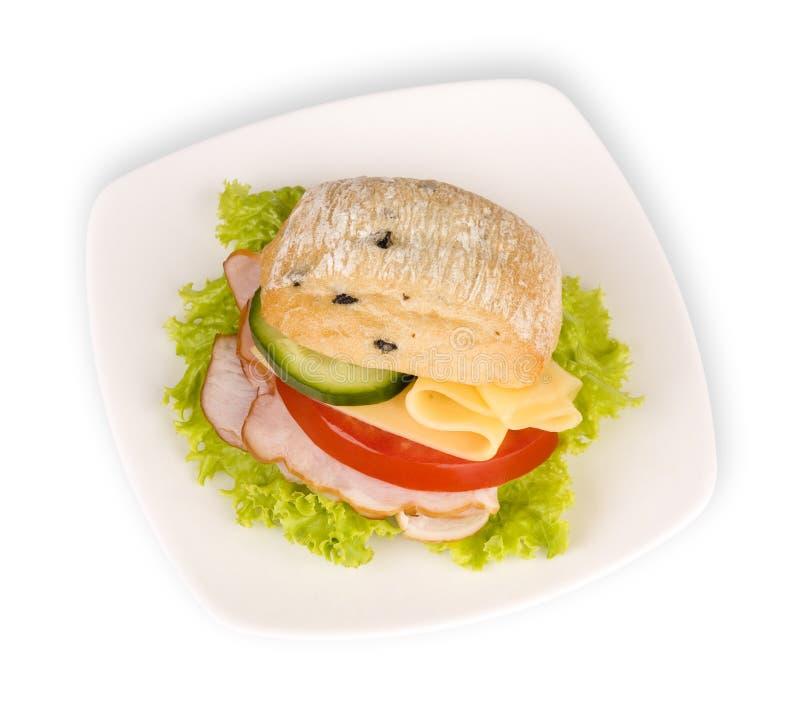 kanapka walcowane white obraz stock