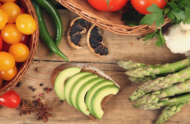Kanapka z avocado obraz royalty free
