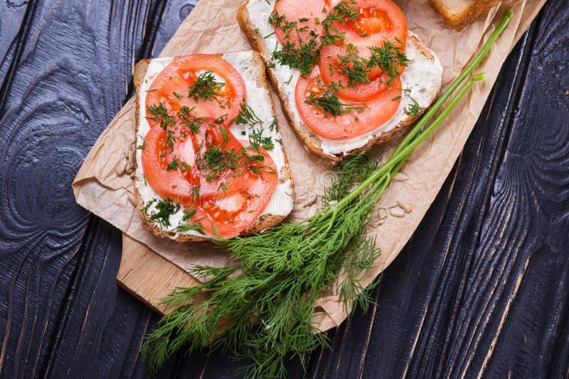 Kanapka z pomidorami zdjęcie stock