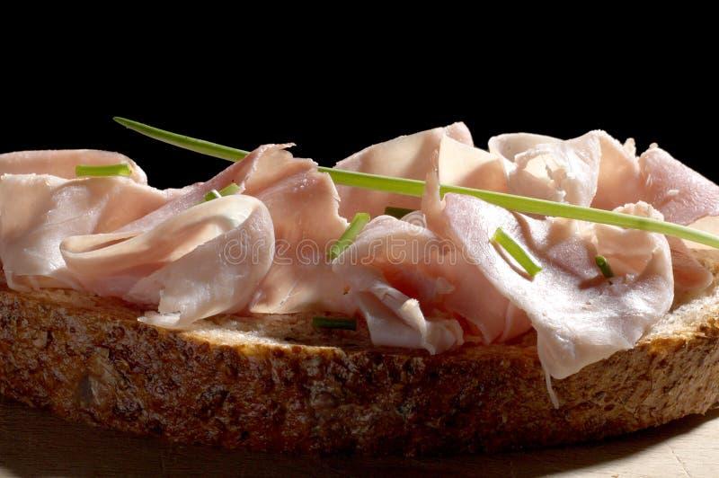 kanapka z szynką zdjęcia stock