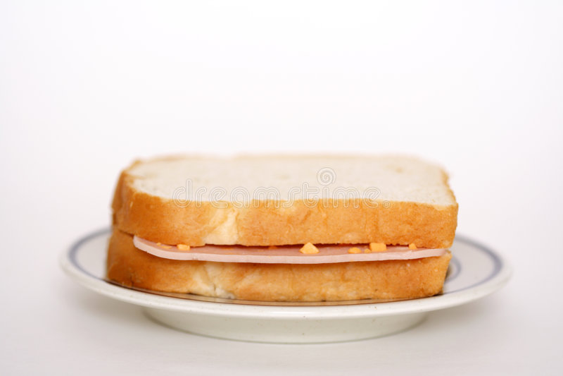 kanapka z szynką obrazy stock