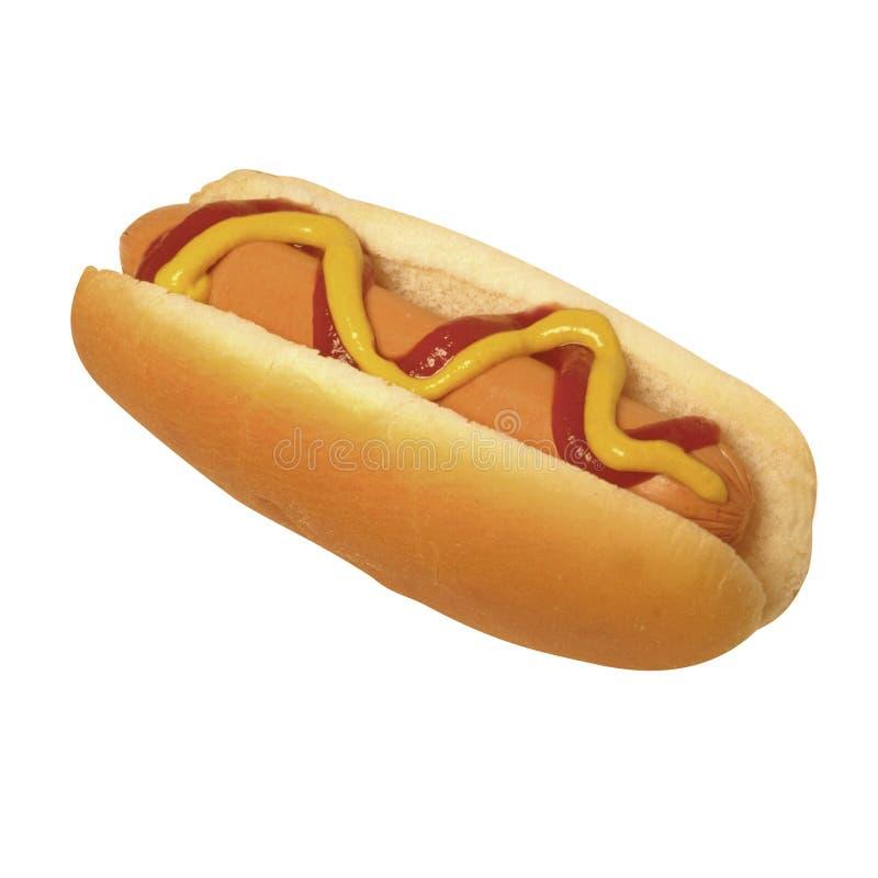 Kanapki hot dog odizolowywający na białym tle zdjęcia royalty free