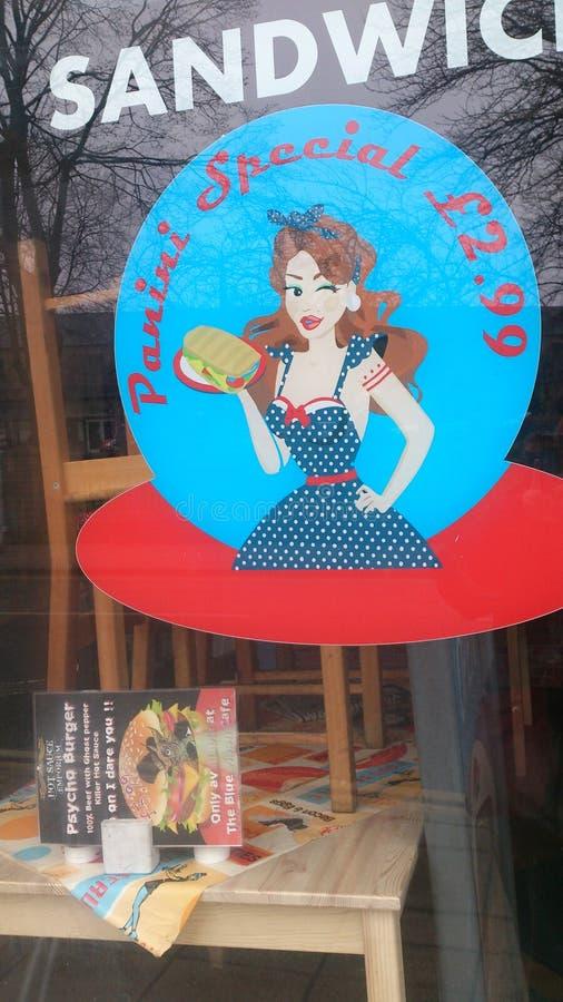 Kanapki kawiarnia zdjęcie stock