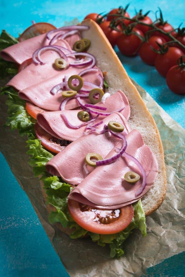 kanapki włoska łódź podwodna zdjęcia royalty free