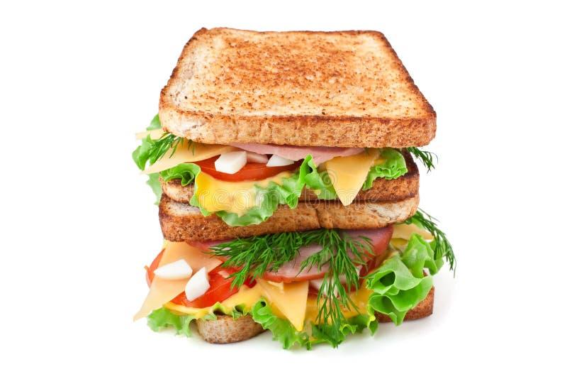kanapki wysoki wznoszący toast fotografia stock