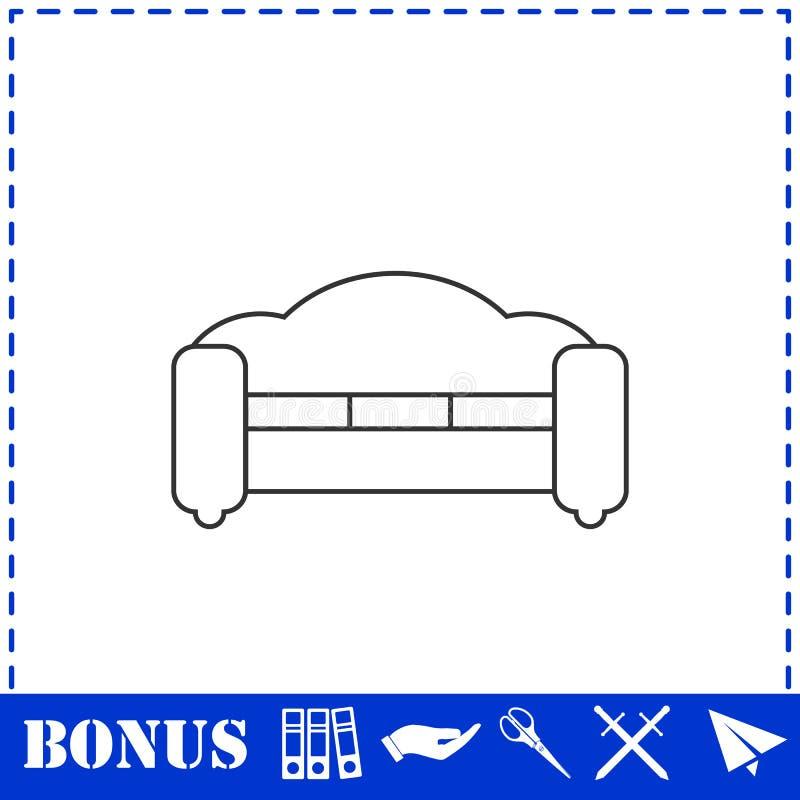 Kanapy ikony mieszkanie ilustracji