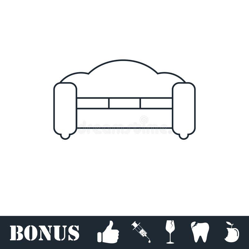 Kanapy ikony mieszkanie royalty ilustracja