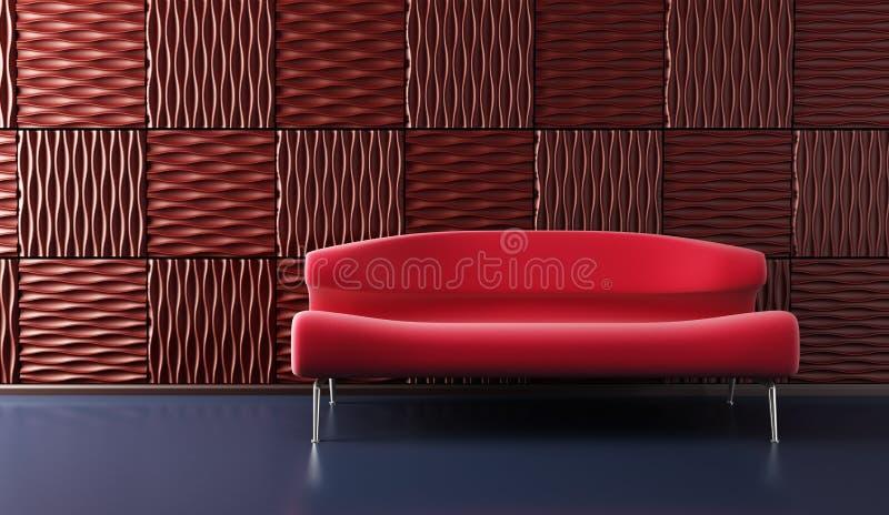 kanapy sztuki lounge popa pokój ilustracja wektor