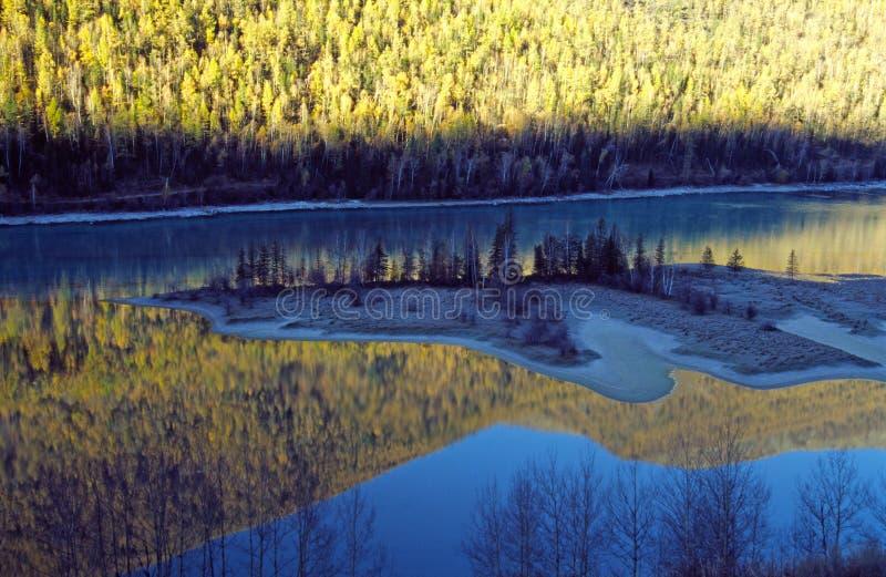 Kanas湖在新疆 免版税库存照片