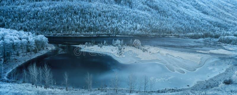 Kanas风景区在新疆,中国 库存照片