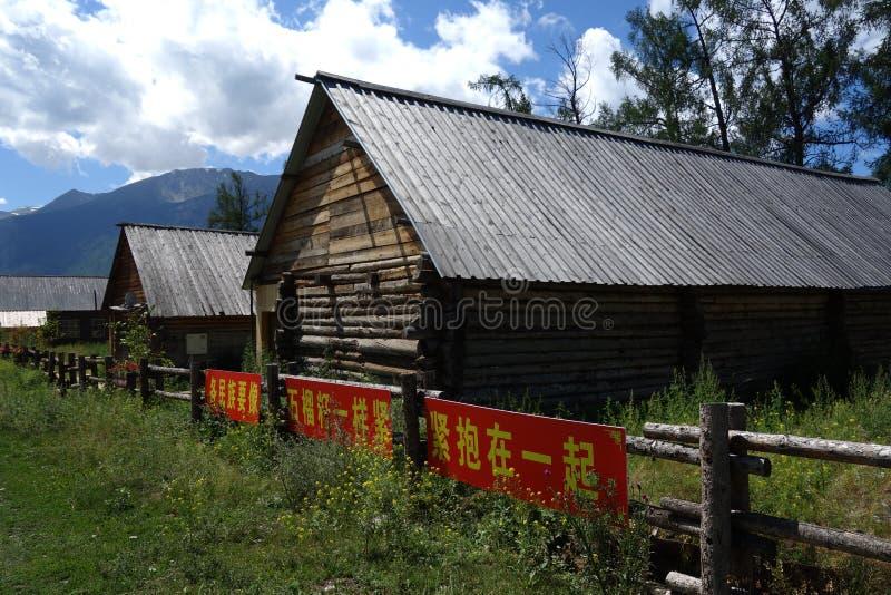 Kanas Jeziorny rezerwat przyrody, Xinjiang, Chiny zdjęcia royalty free