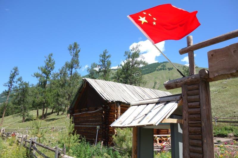 Kanas Jeziorny rezerwat przyrody, Xinjiang, Chiny obrazy stock