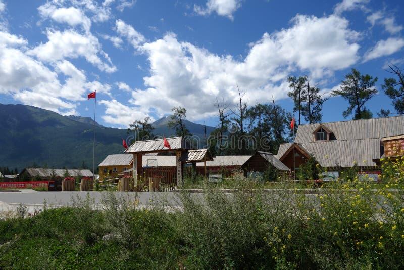 Kanas Jeziorny rezerwat przyrody, Xinjiang, Chiny zdjęcie royalty free
