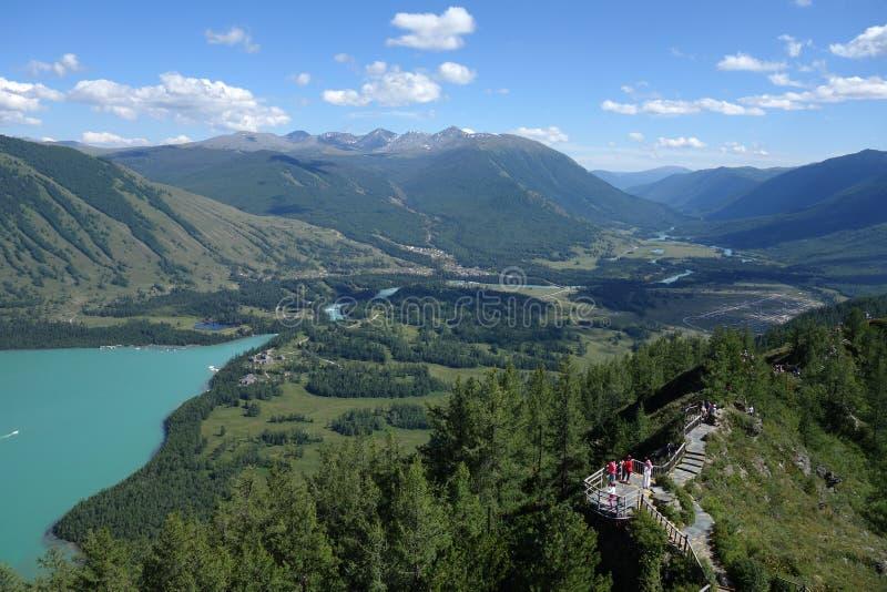Kanas jezioro, Xinjiang, Chiny zdjęcia royalty free