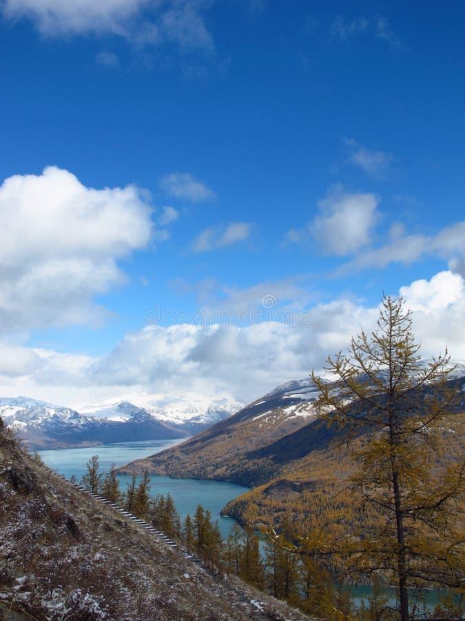 Kanas Lake stock photo