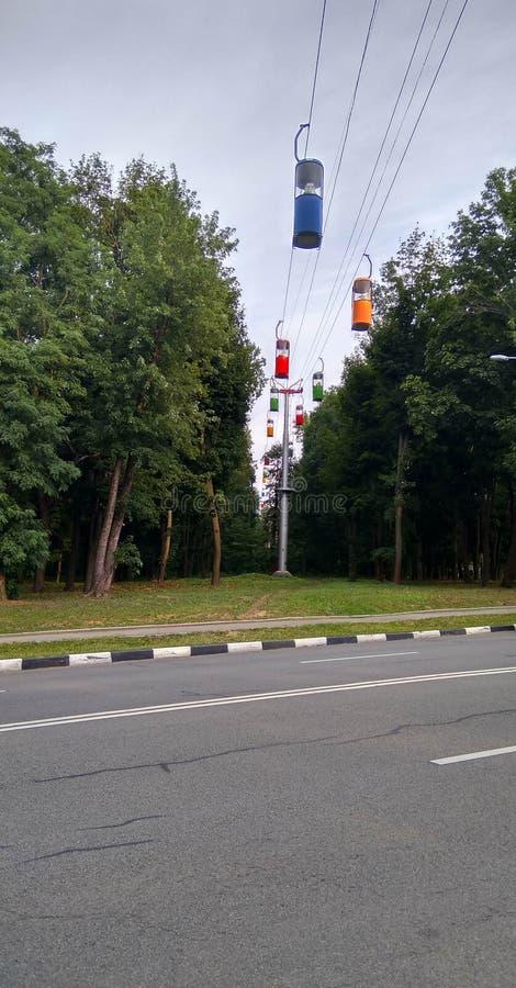Kanatna drogowego Kharkiv, Ukraina, Gorky park obrazy stock