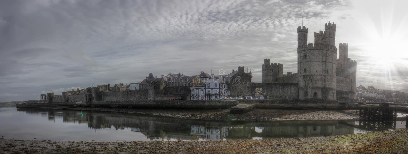 Kanavon Castle, United Kingdom, Wales royalty free stock photos
