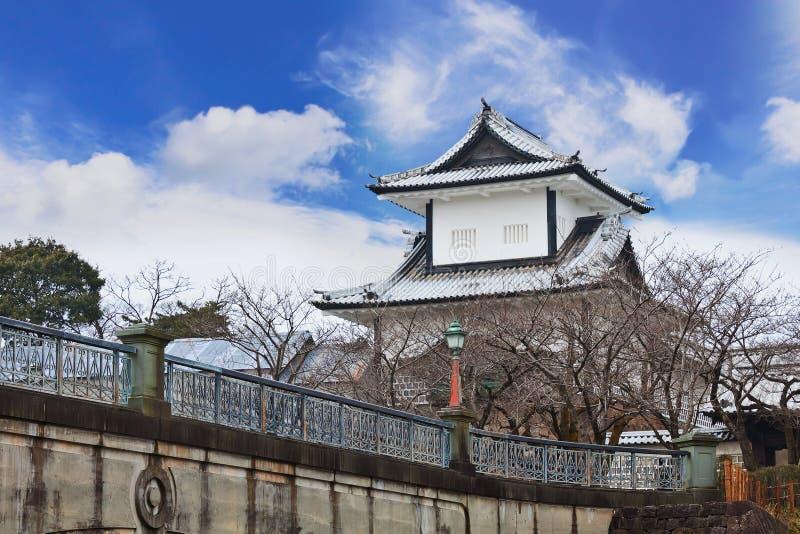 Kanazawa Castle. Situated at the opposite side of Kenrokuen, Kanazawa, Japan stock image