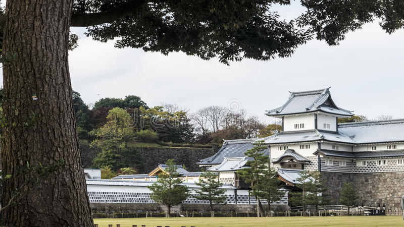 Kanazawa Castle. For adv or others purpose use royalty free stock photos