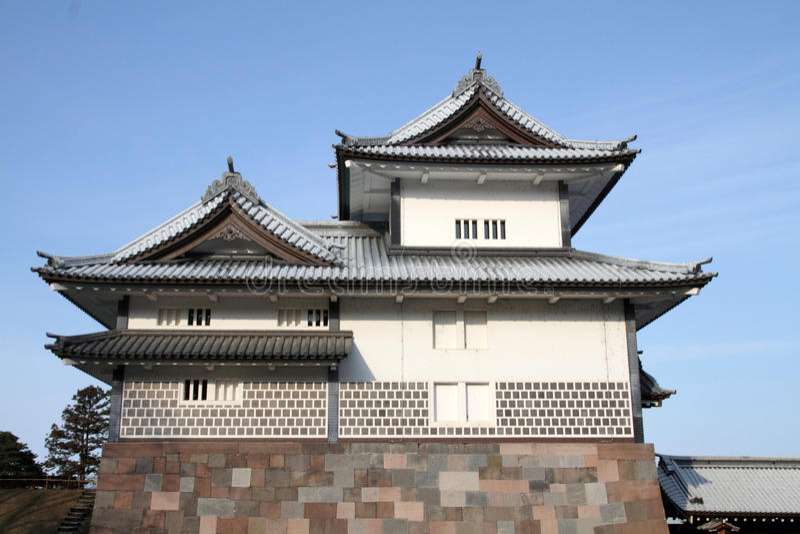 Kanazawa Castle. In Ishikawa, Japan royalty free stock photos