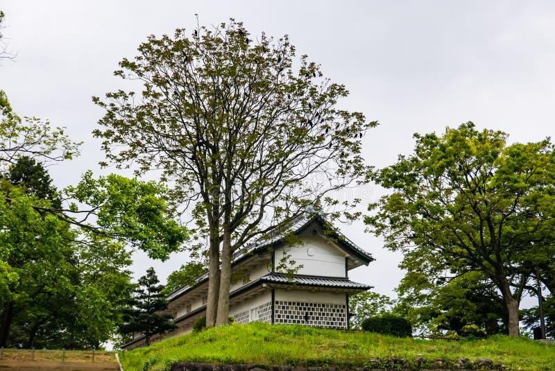 Kanazawa castle. Kanazawa, Japan - May 3, 2016: Kanazawa castle. Kanazawa Castle is a large, well-restored castle in Kanazawa, Ishikawa Prefecture, Japan royalty free stock image