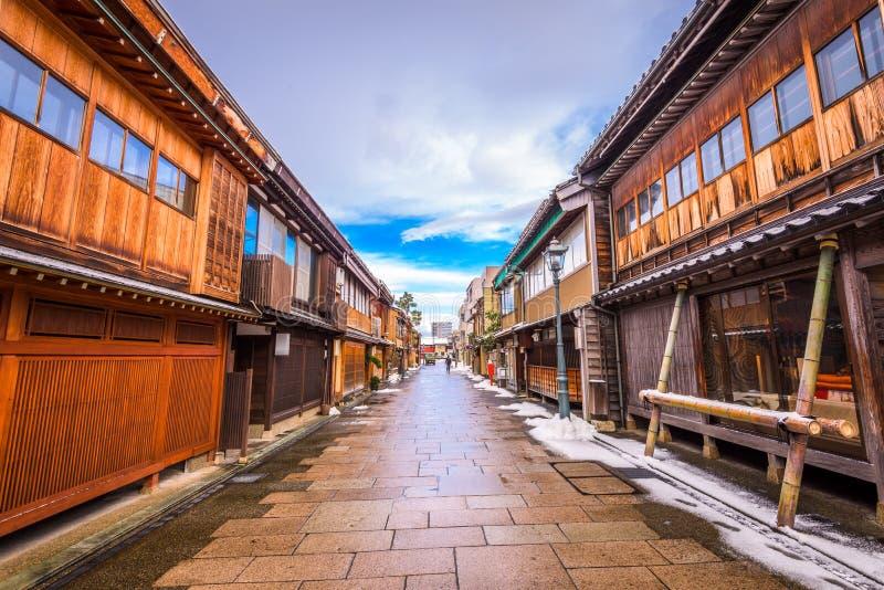 Kanazawa, het Historische District van Japan royalty-vrije stock foto's