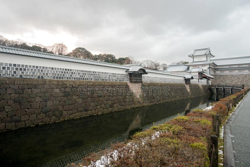 Kanazawa, Japan - December 15, 2017: Kanazawa castle. In Kanazawa royalty free stock image