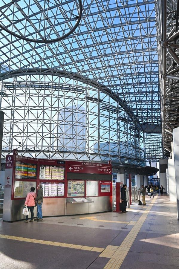 Kanazawa station, Kanazawa, Japonia zdjęcia royalty free
