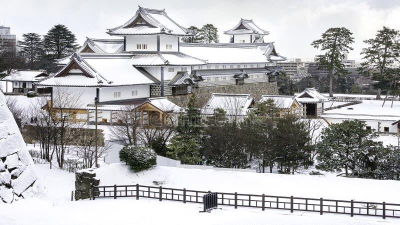 Kanazawakasteel in de Winter royalty-vrije stock fotografie